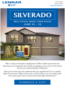 Join Lennar for an Open House Event this Weekend at Silverado