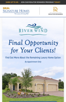 Learn About the Final Luxury Home Opportunity at River Wind!