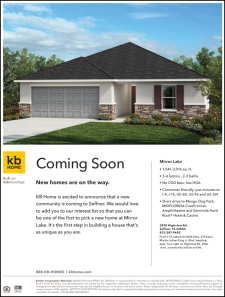 New Homes Are On The Way in Mirror Lake!