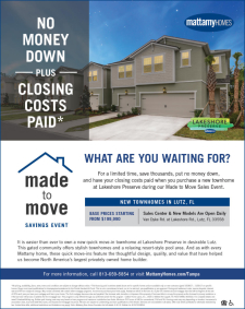 New Lutz Townhomes - No Money Down & Closing Costs Paid*
