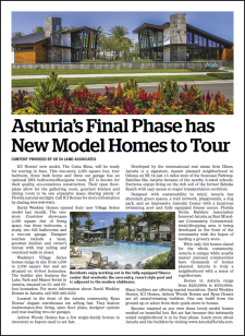 New Model Homes to Tour at Asturia's Final Phase