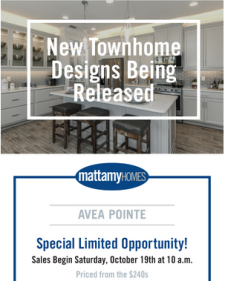 New Townhomes from the $240s at Avea Pointe in Lutz – Special Release