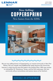 Now Selling in Copperspring! New Homes from the $180s