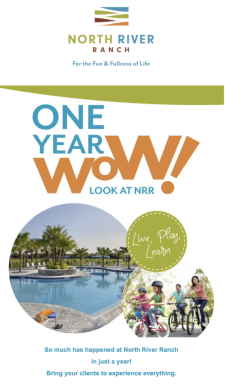 One Year WOW! See North River Ranch today!