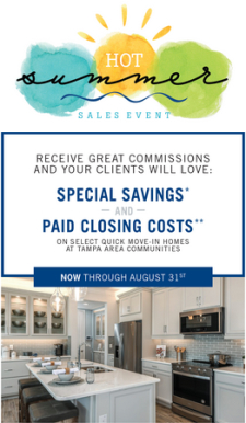 Summer Savings on these Tampa Area Homes