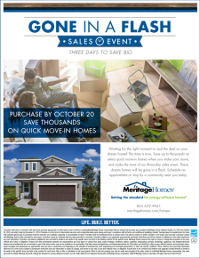 Three days to save on your dream home