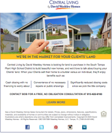 We're In The Market For Your Clients' Land