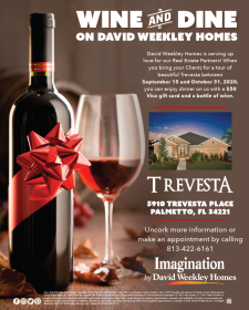 Wine and Dine on David Weekley Homes in Trevesta