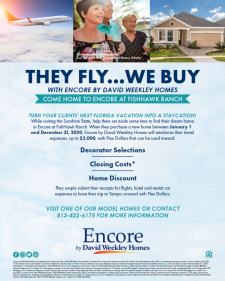 Your Client Fly's David Weekley Buys in Encore at FishHawk Ranch a 55+ Lifestyle Community