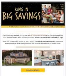 Your Clients Can Save Big with David Weekley Homes